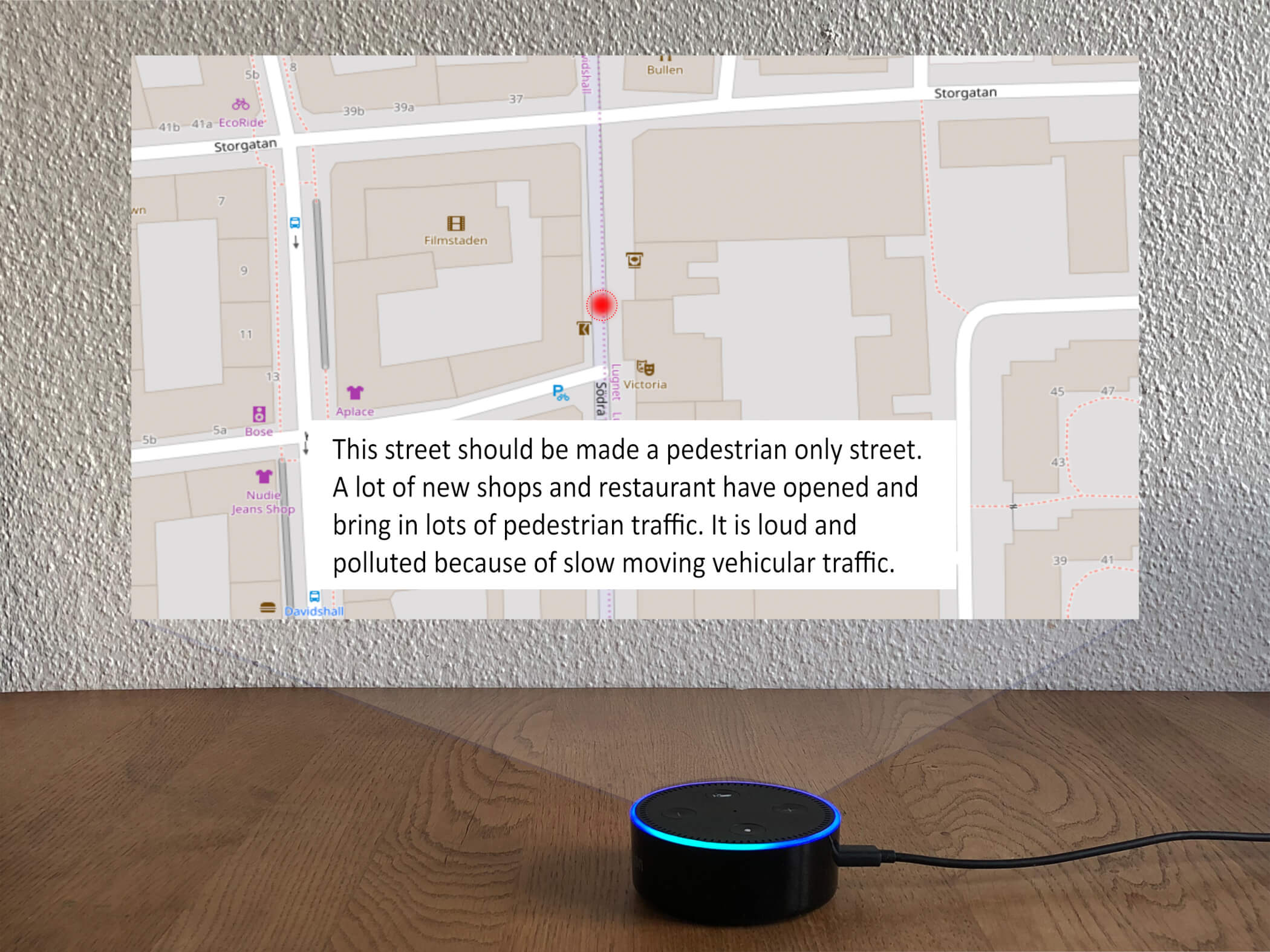audio visual sketch_pedestrian map
